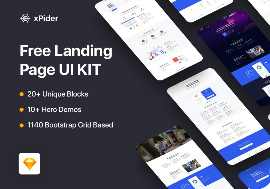Landing Page 着陆页UI KIT