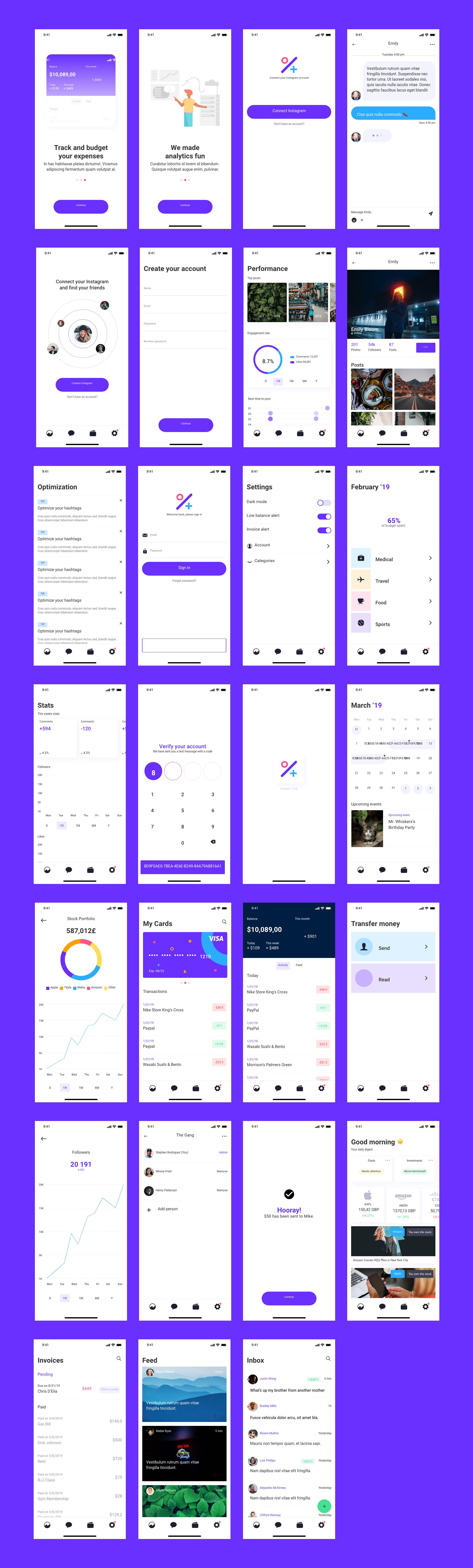 金融类app整套UI源文件下载