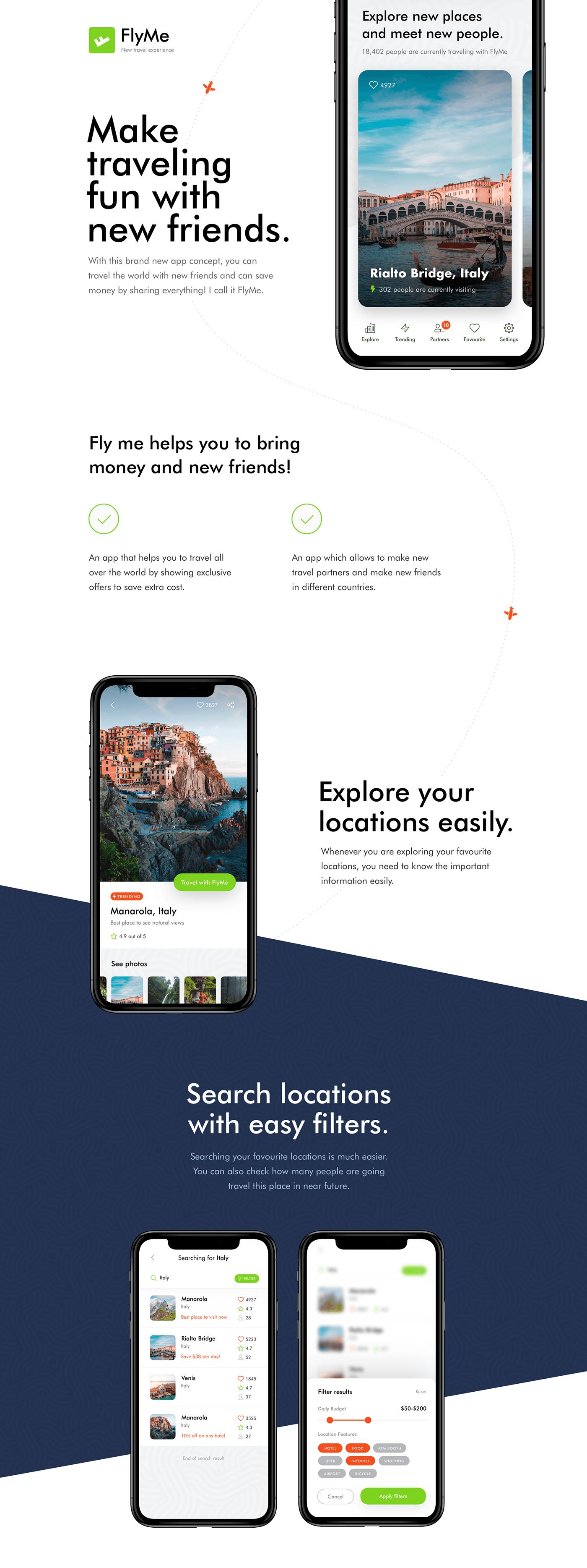 旅游类精品APP UI kit下载
