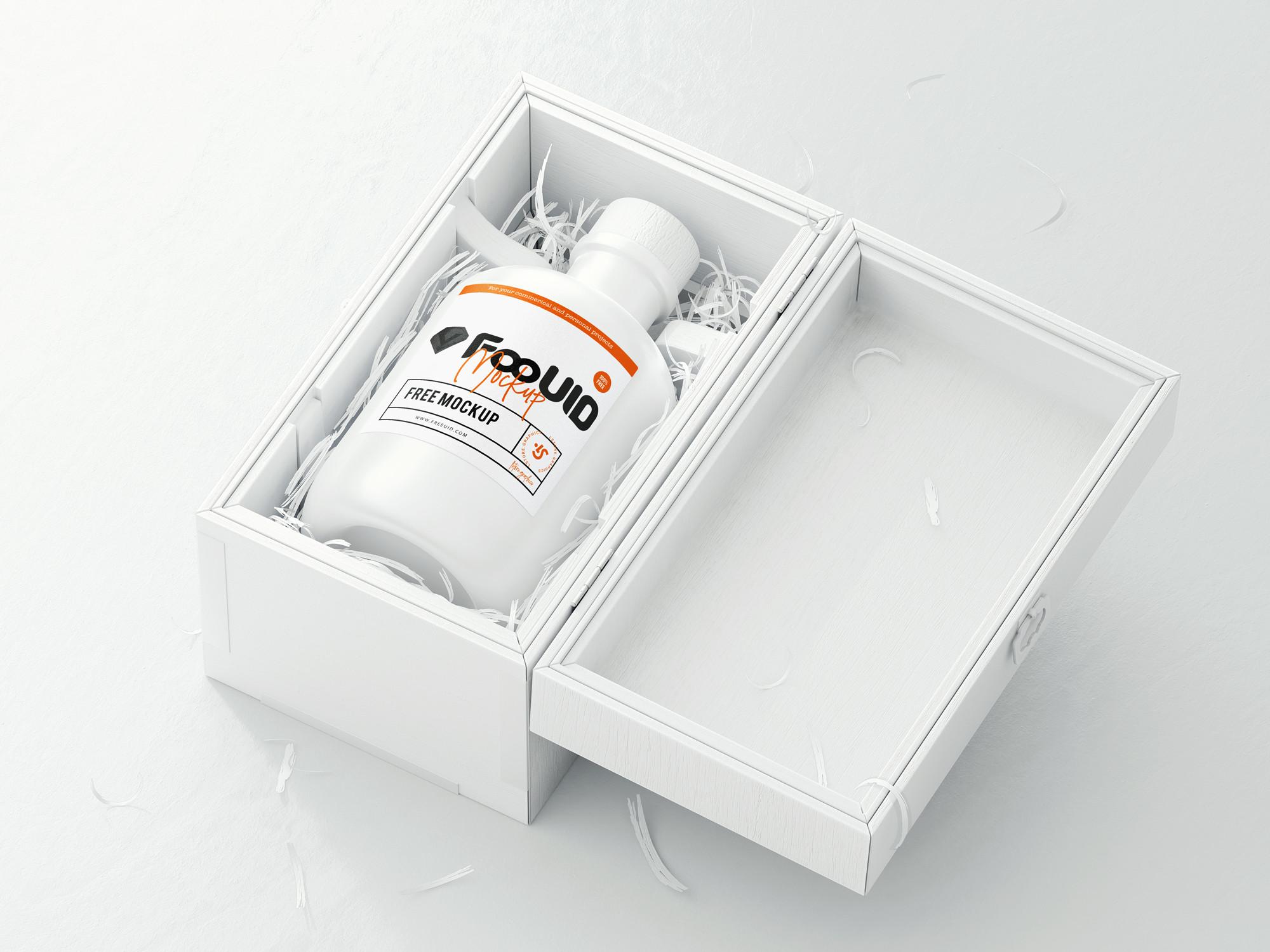 瓶子logo展示模板psd源文件