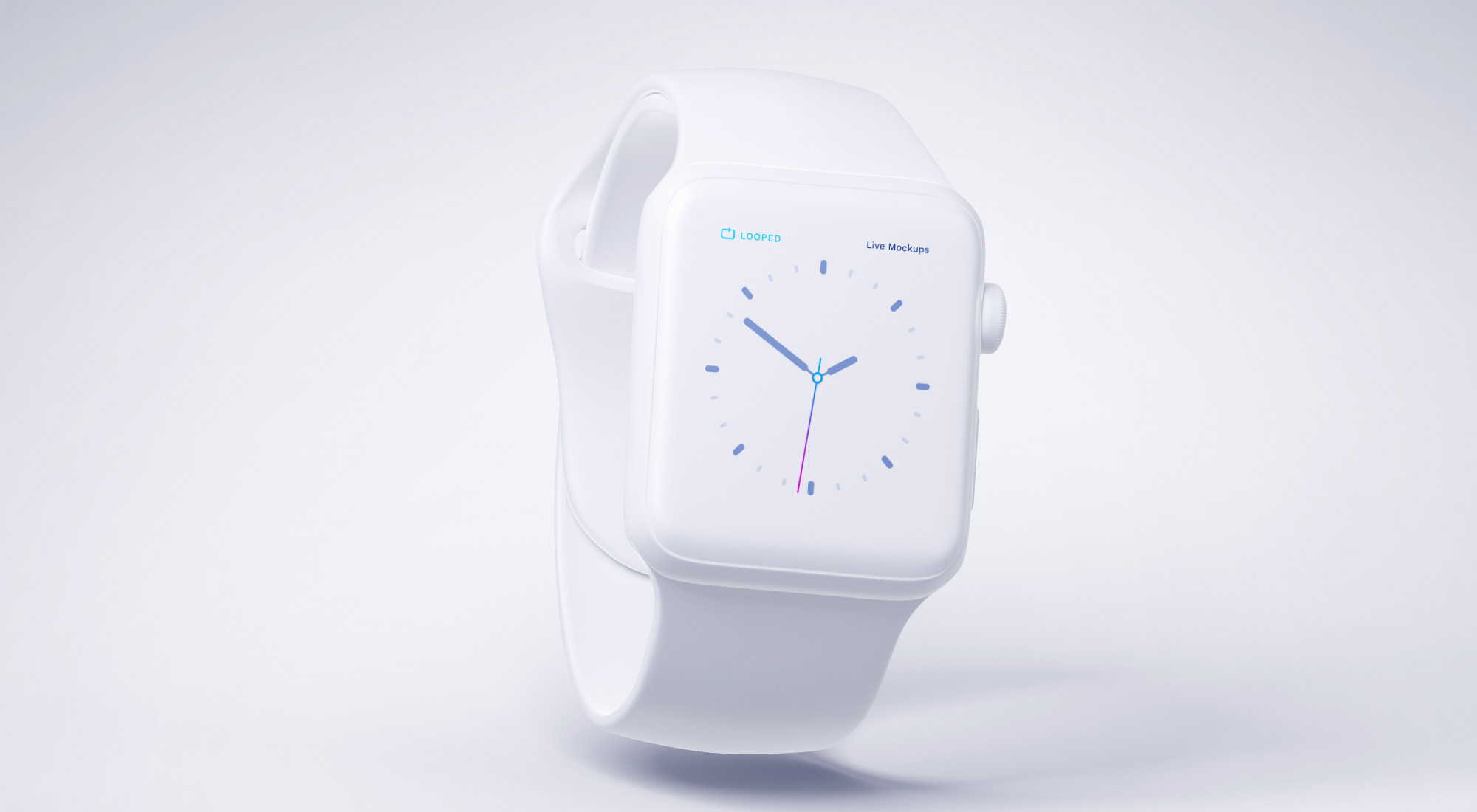 白色苹果各终端产品展示模板