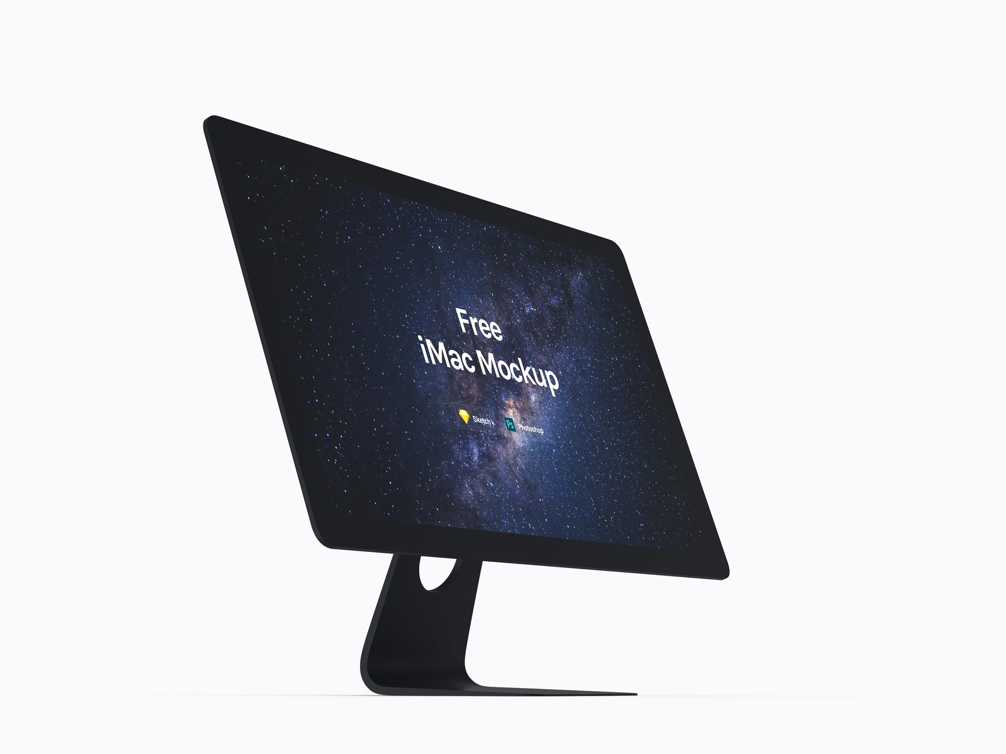 iMac免费包装模板,mockup