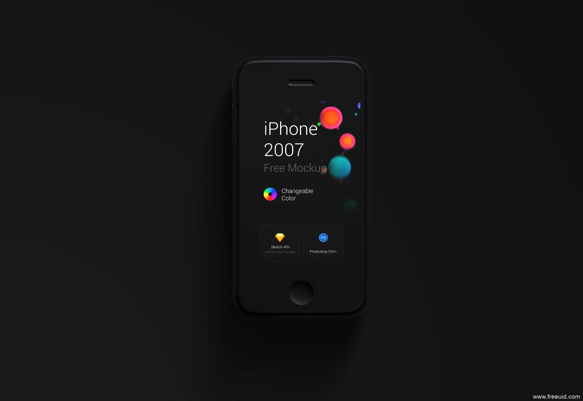 iPhone第一代超写实模板,纪念珍藏版!ps+sketch源文件,UI资源下载