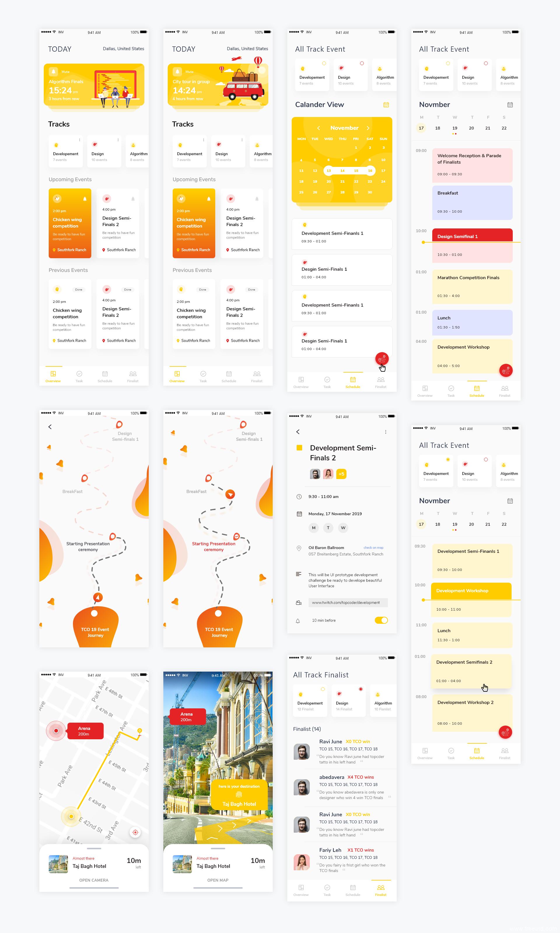 全套计划管理类APP UI模板,UI素材下载,UI资源下载,sketch源文件下载
