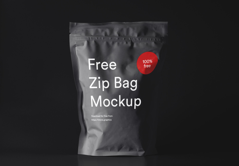 黑色/白的包装袋模板psd源文件