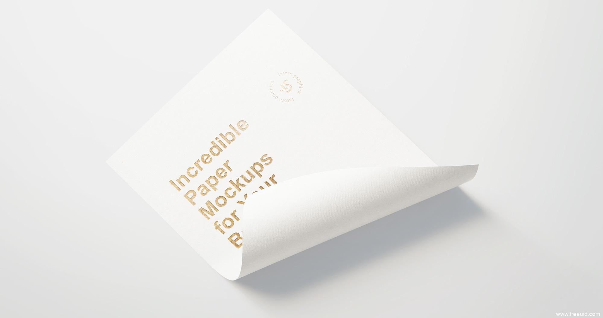 A4纸张PSD模板源文件,纸张效果模板