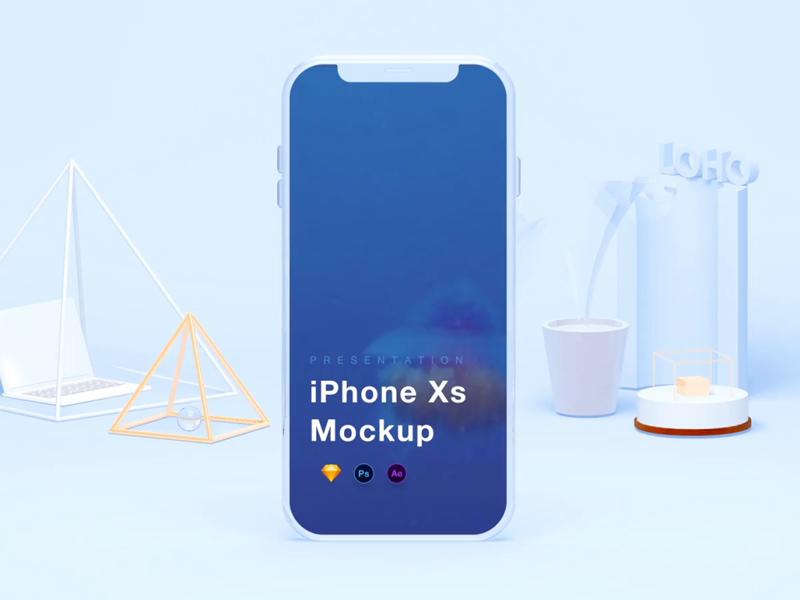 iPhone X手机模板sketch+psd+aep