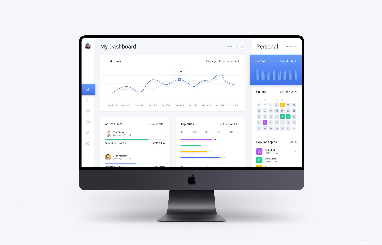 简约金融管理,数据检测类系统后台UI,Dashboard UI资源下载