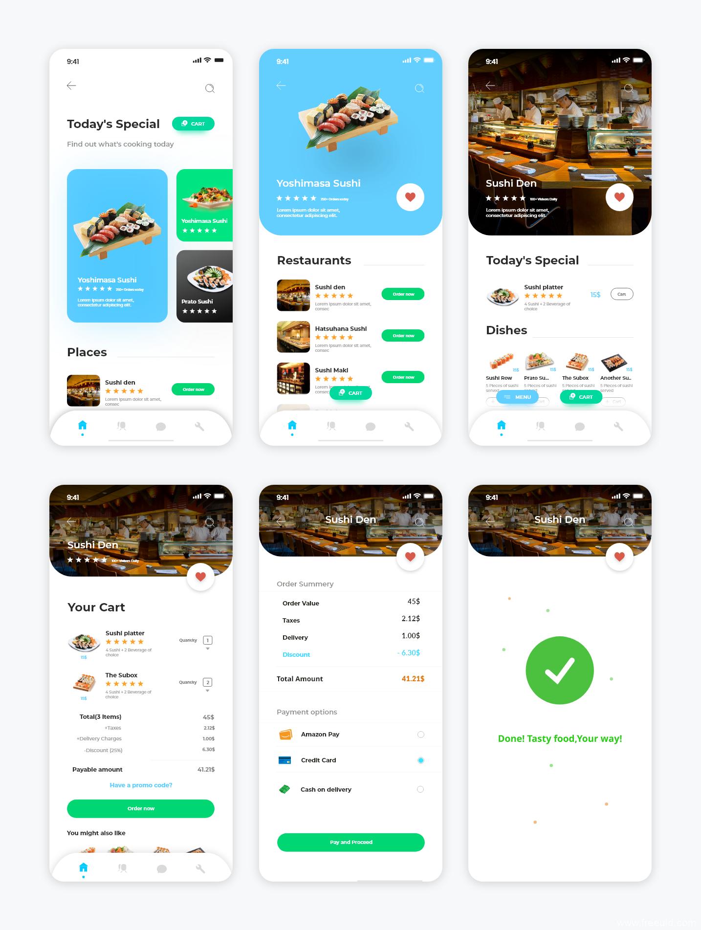 美食外卖app UI KIT源文件,UI素材下载,ui资源下载