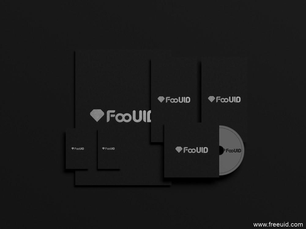 黑色质感VI展示模板,vi展示pad源文件