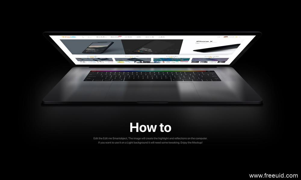 精品MacBook pro样机模板,UI样机模板,psd源文件