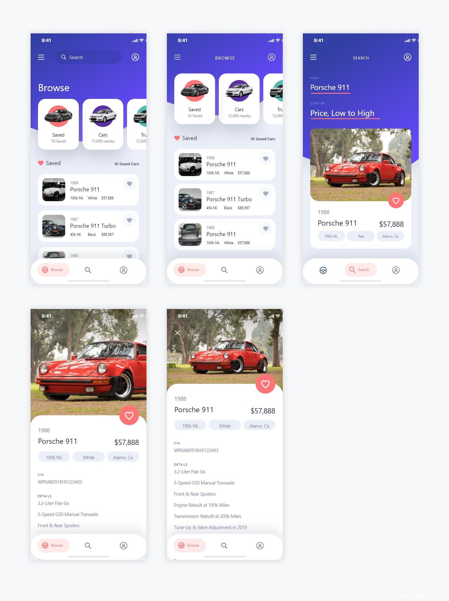 汽车销售类app ui 源文件下载