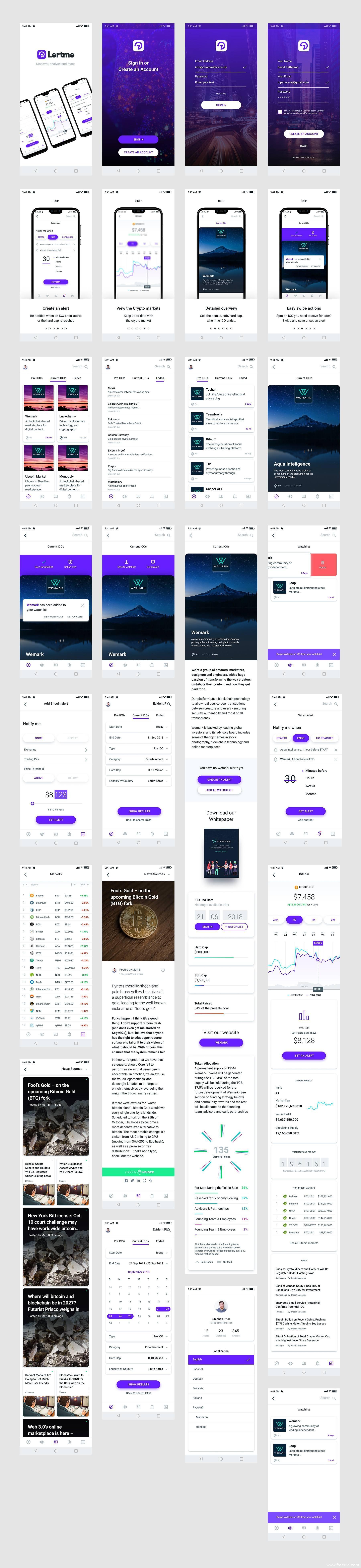 全套37个页面数字货币钱包类app UI源文件下载,UI资源下载