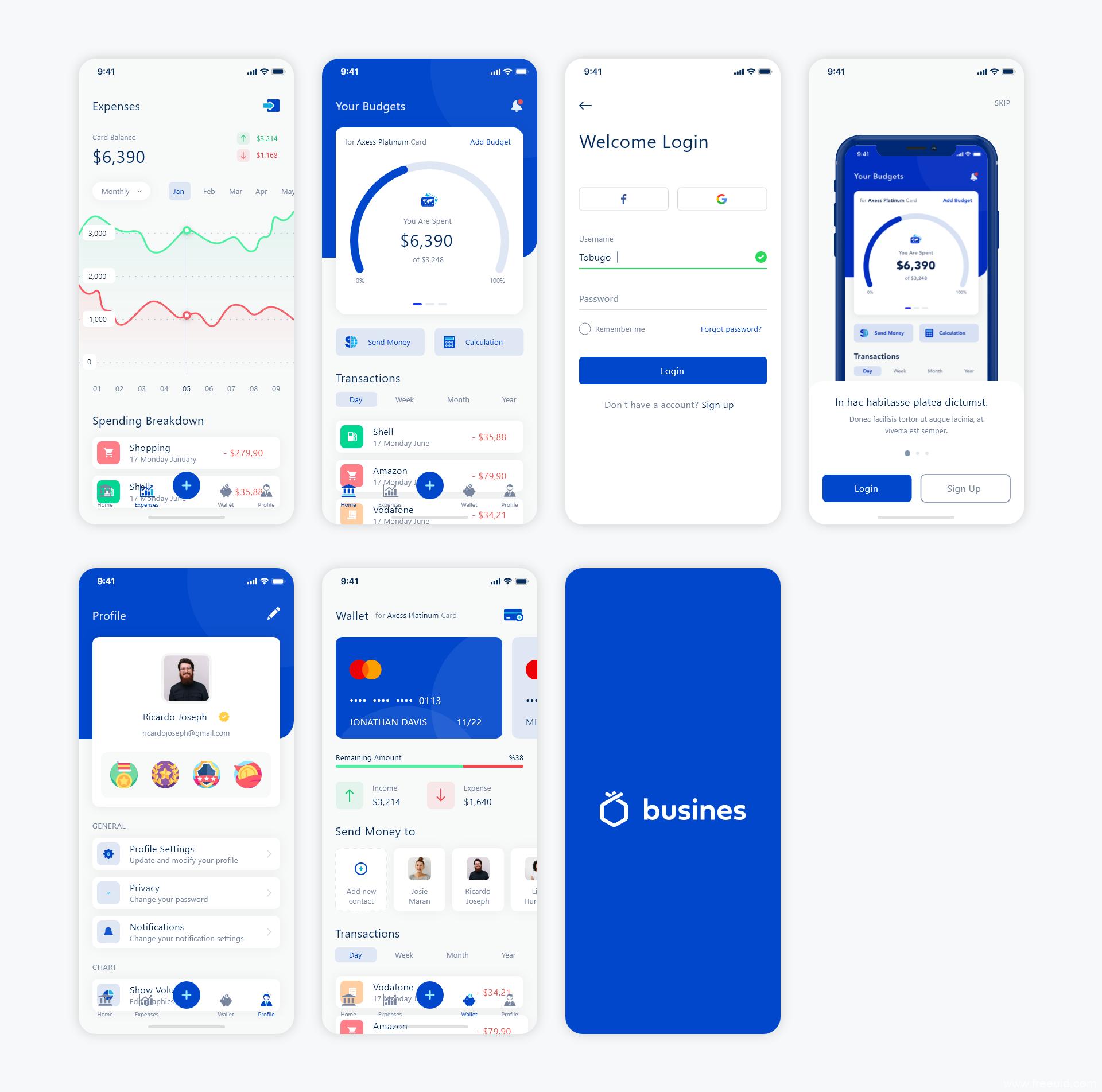 金融类App UI源文件下载,sketch源文件下载