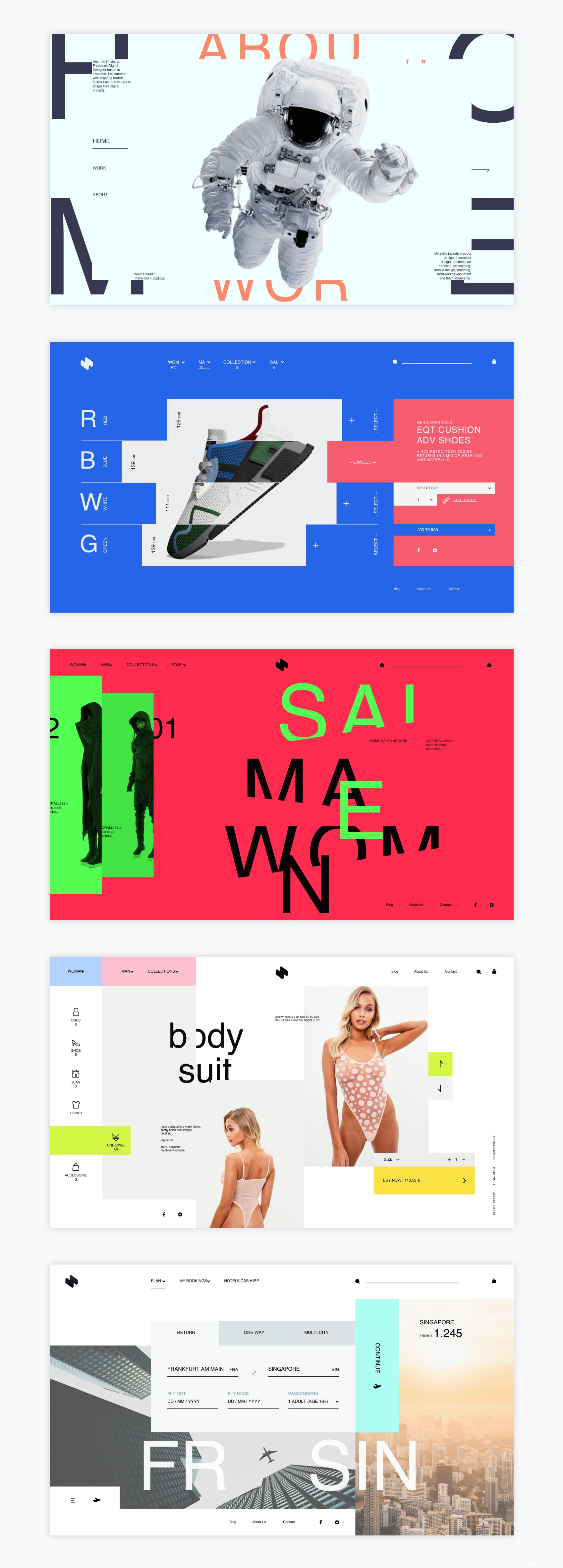 高端品牌网页设计/作品集排版UI模板源文件