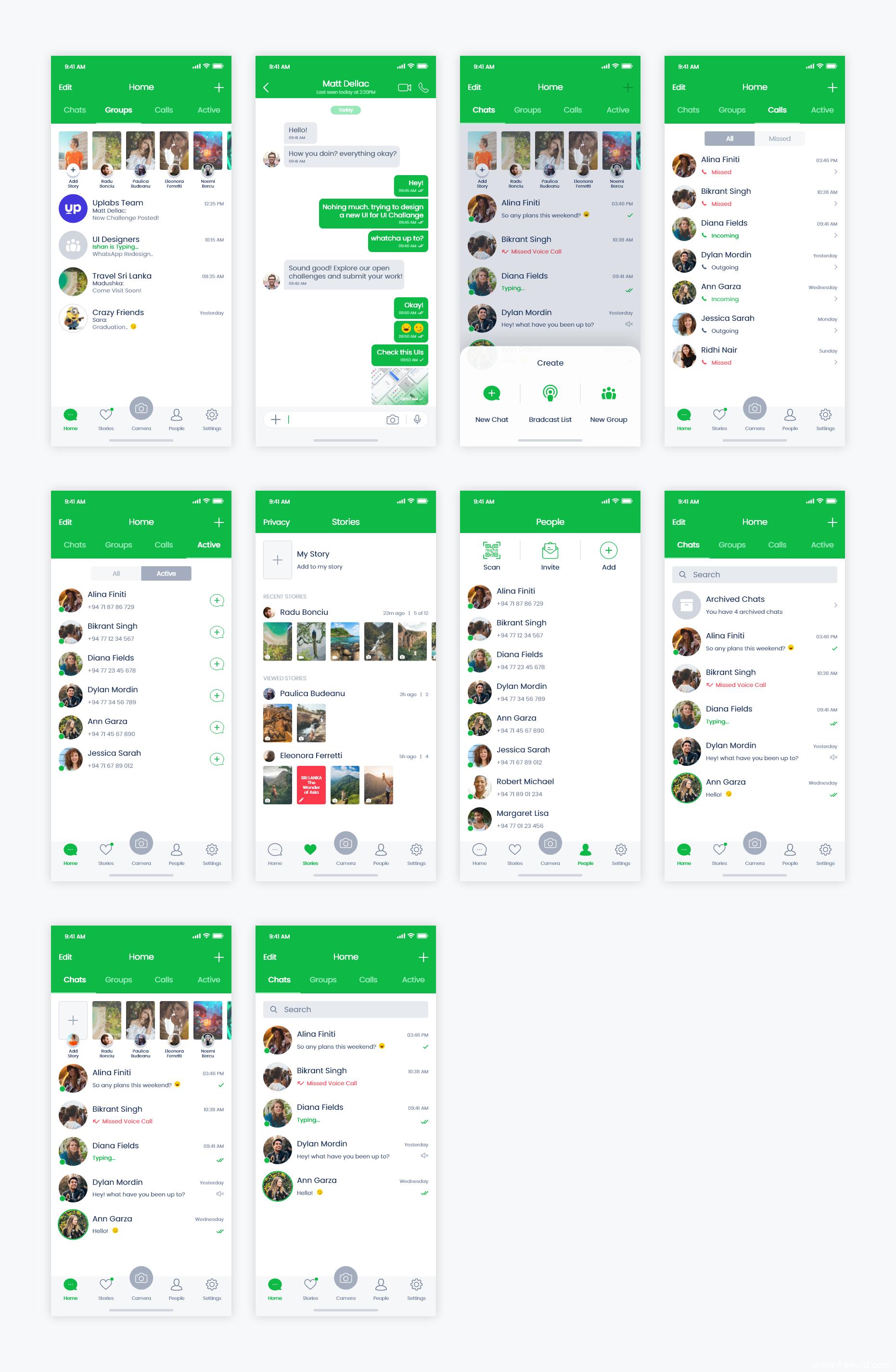 即时通讯,聊天类社交APP UI源文件,UI资源下载