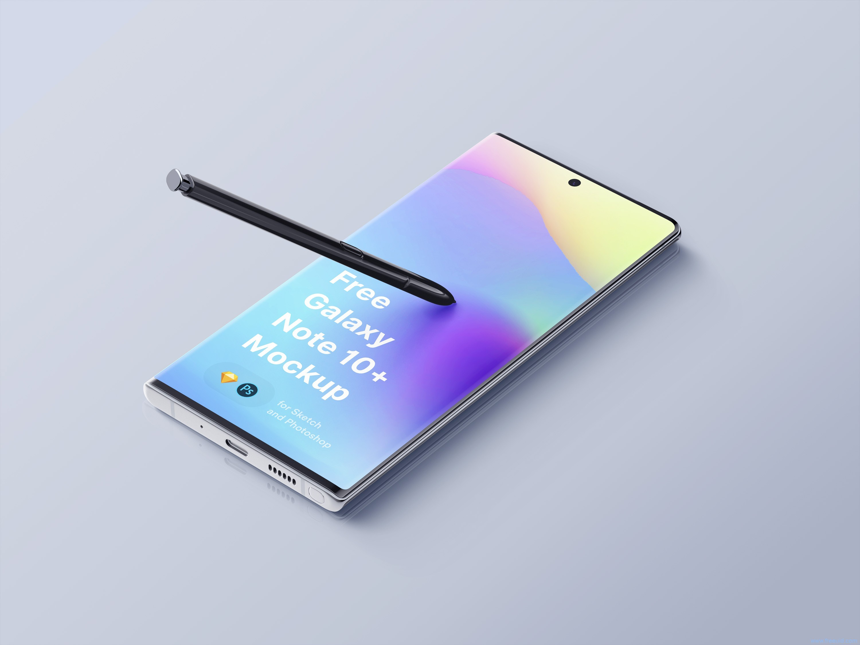 Samsung Galaxy Note 10 Plus Mockup .psd .sketch素材下载