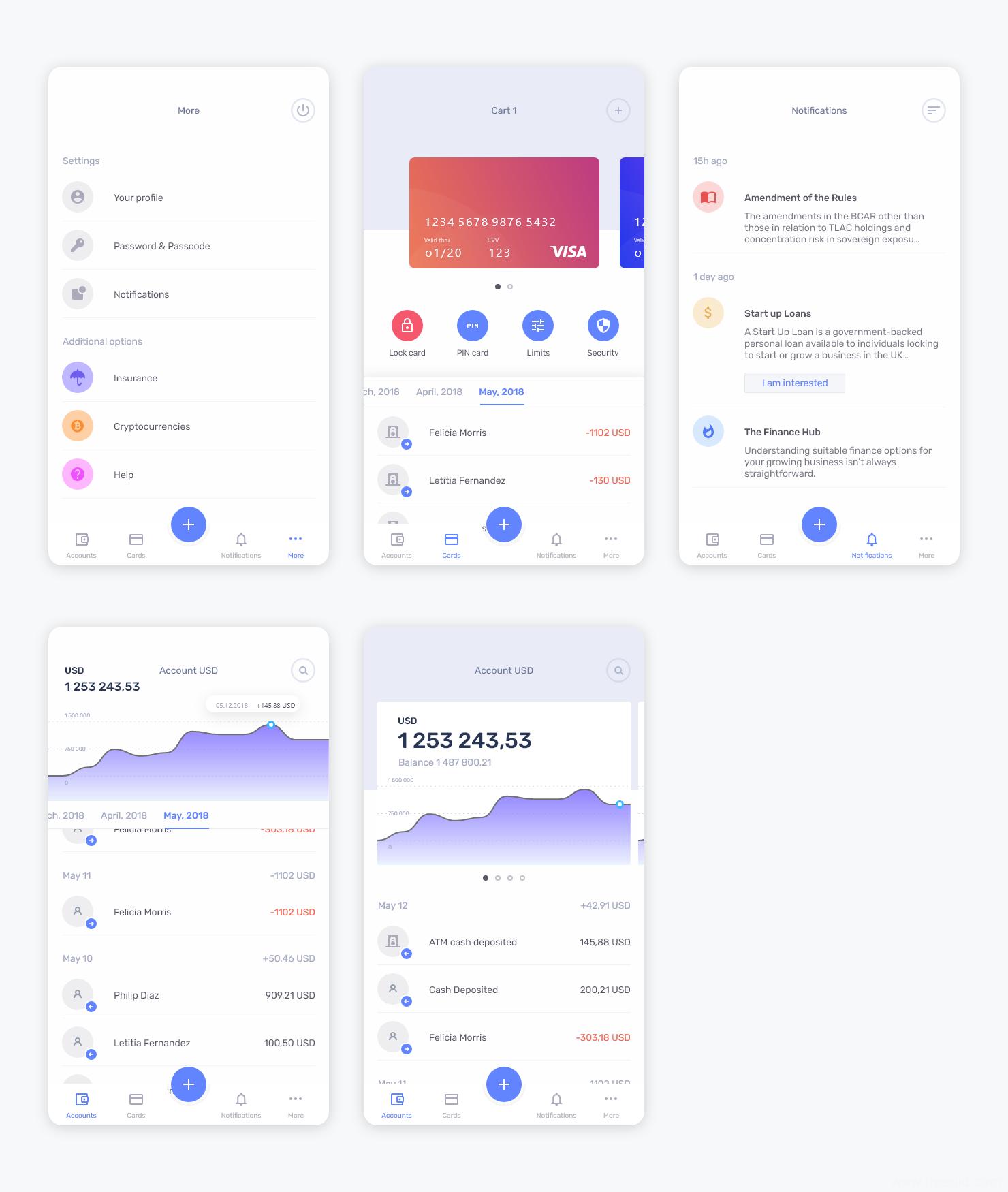 黑白双色两个主题银行app ui .sketch素材下载,UI素材下载,UI资源分享