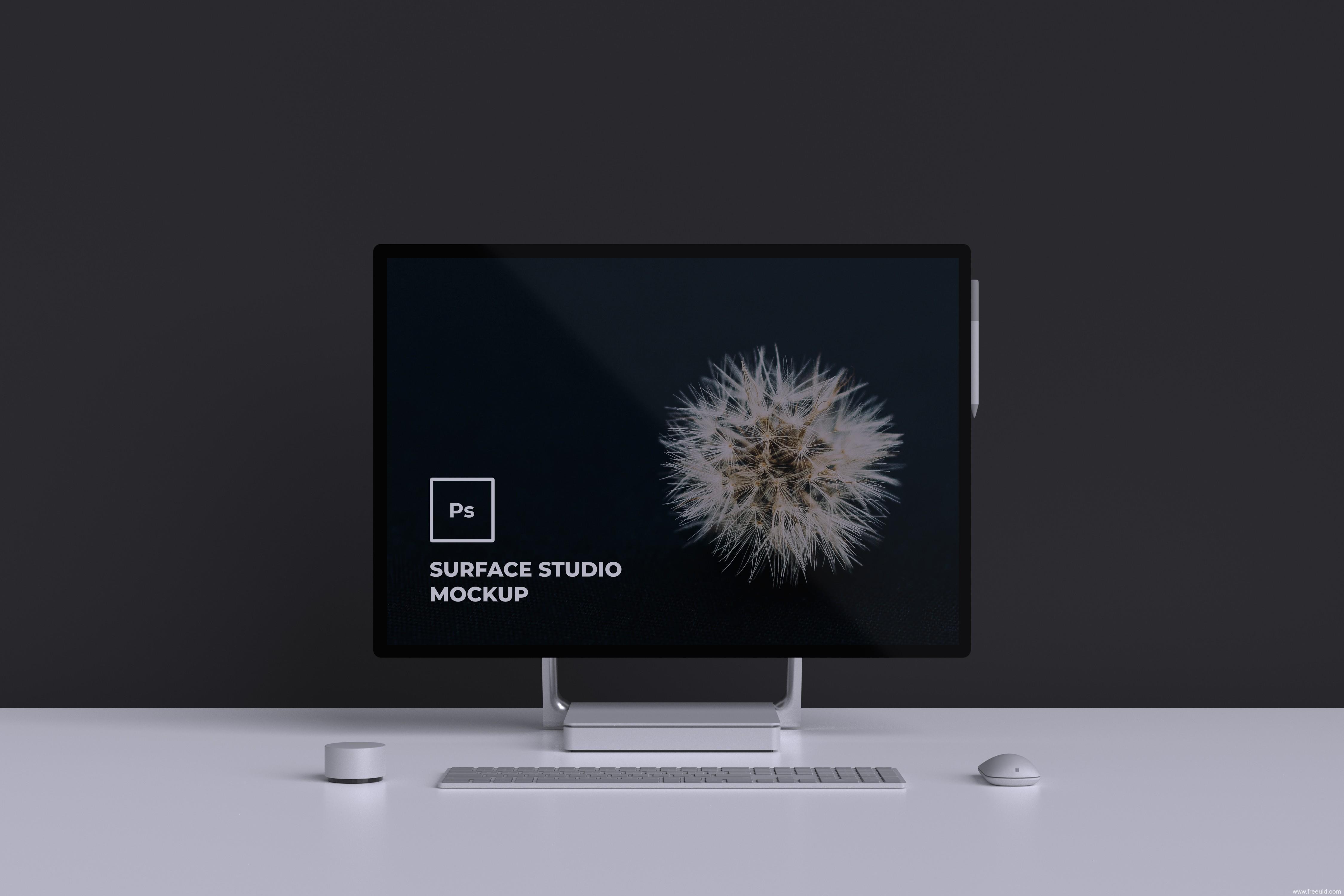 Surface Studio Mockup,电脑样机mockup
