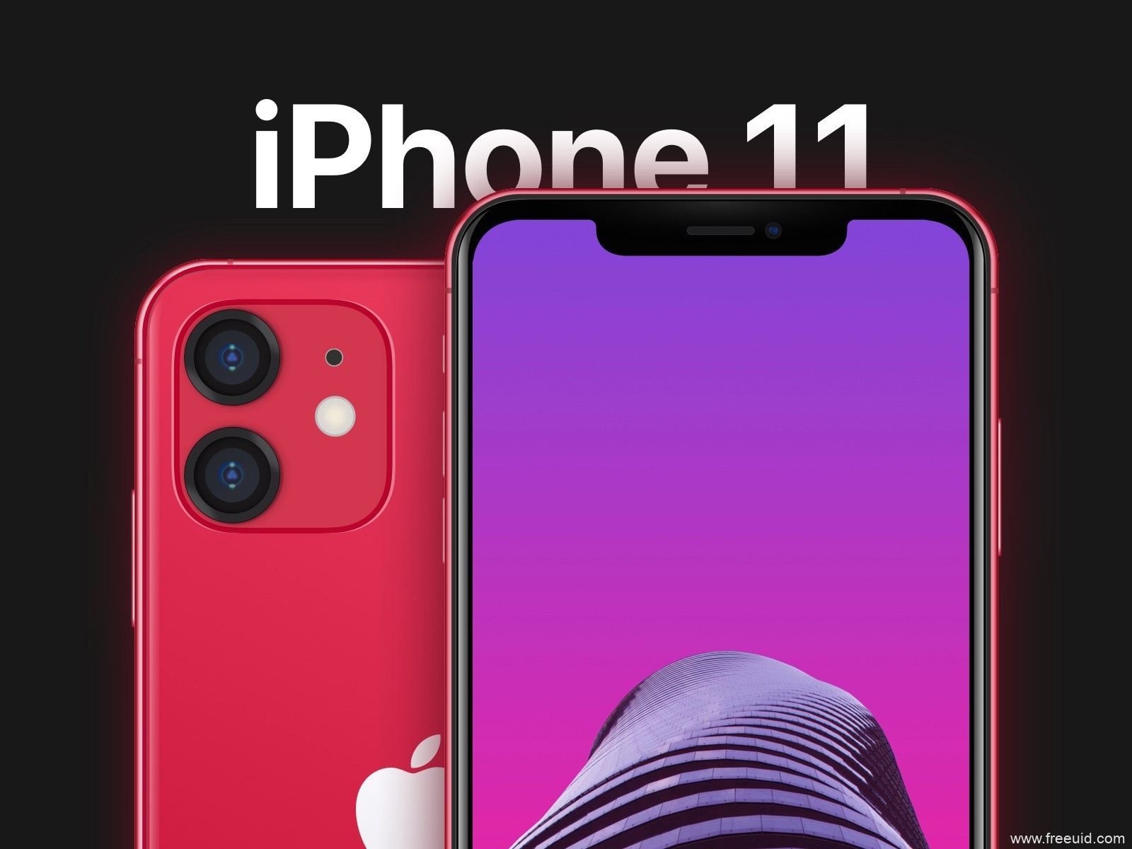 iphone 11 & iphone 11 pro max mockup .sketch素材下载