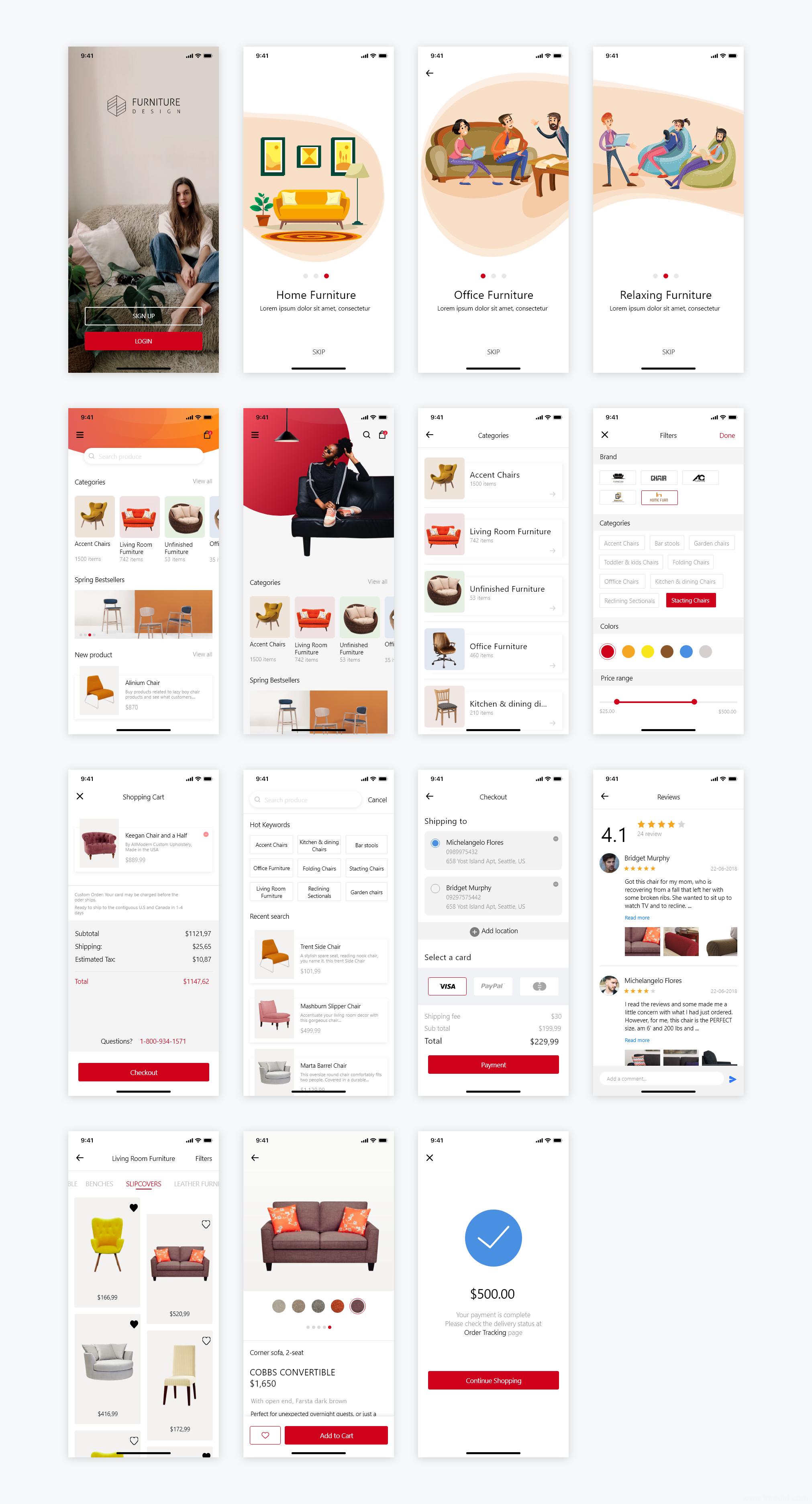 整套家居电商类app ui .sketch源文件下载,UI资源下载,UI素材分享