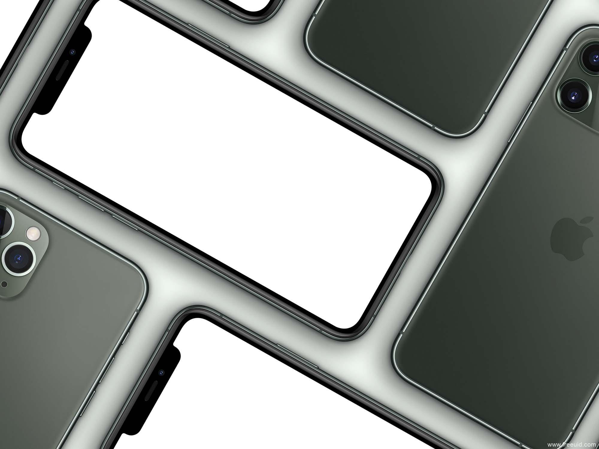 精品多个iPhone 11 Pro Max样机(PSD)