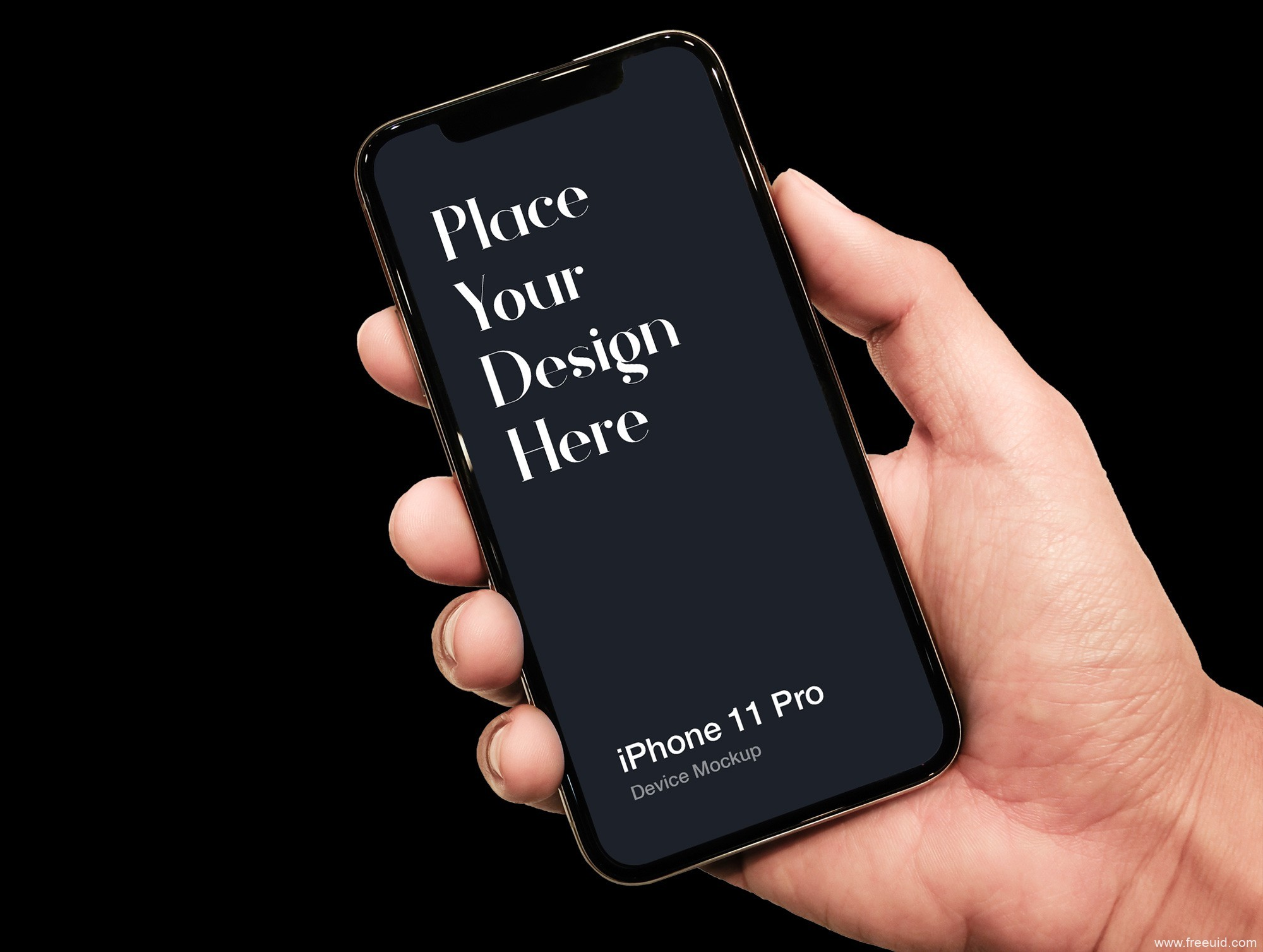 iphone 11 手持效果mockup .psd素材下载