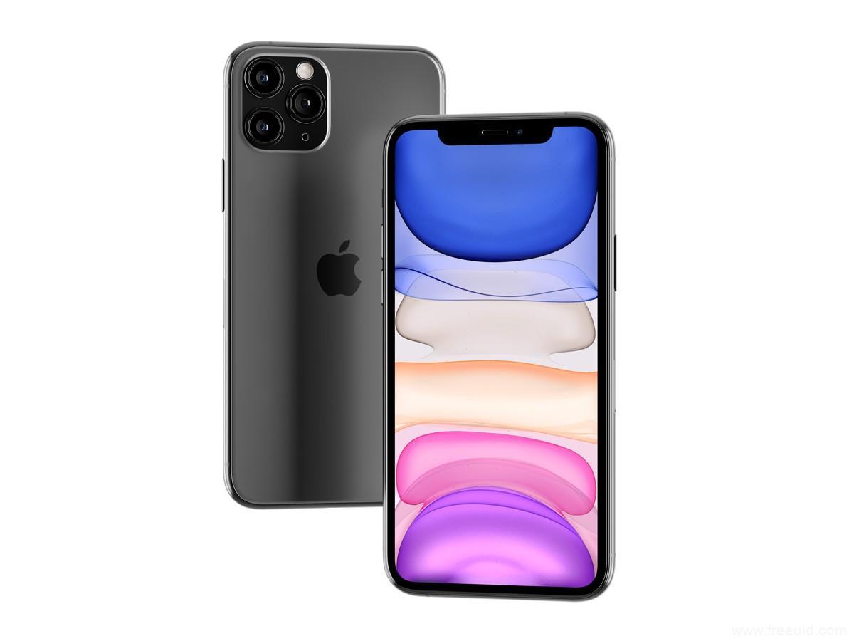 透视效果iphone 11 pro mockup .psd素材下载