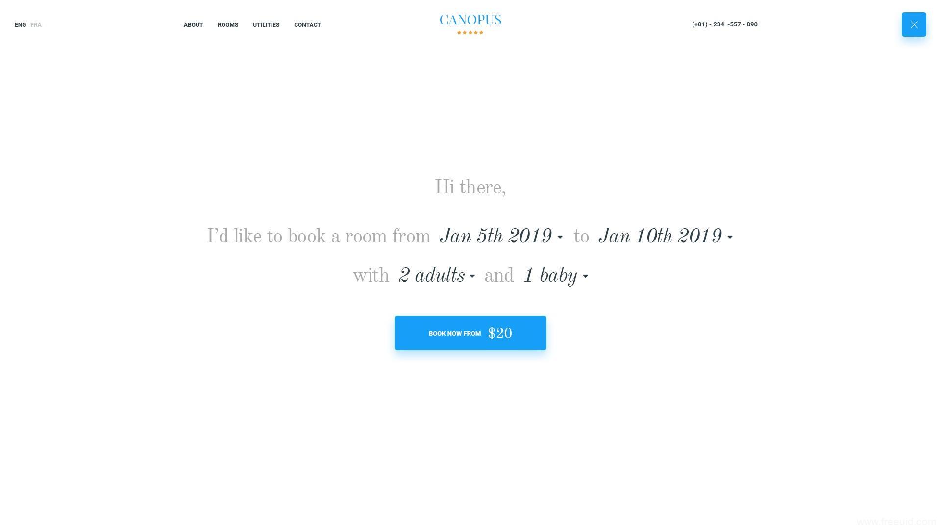 大气酒旅,酒店预定类网页设计UI源文件,psd源文件