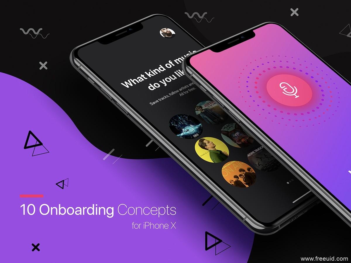 10个app onboarding 启动页ui .sketch素材下载