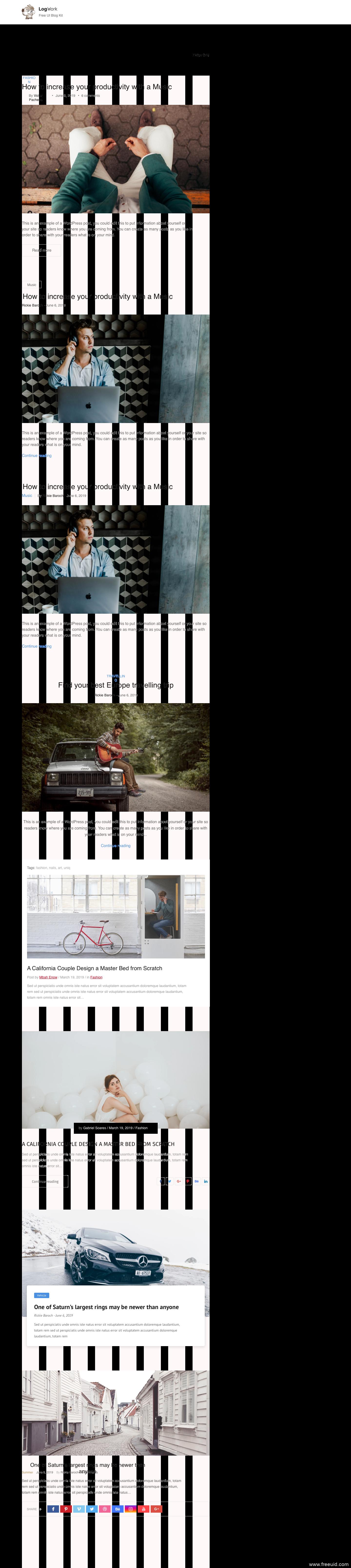 个人博客,设计师个人作品展示网站源文件UI kitUI,资源下载