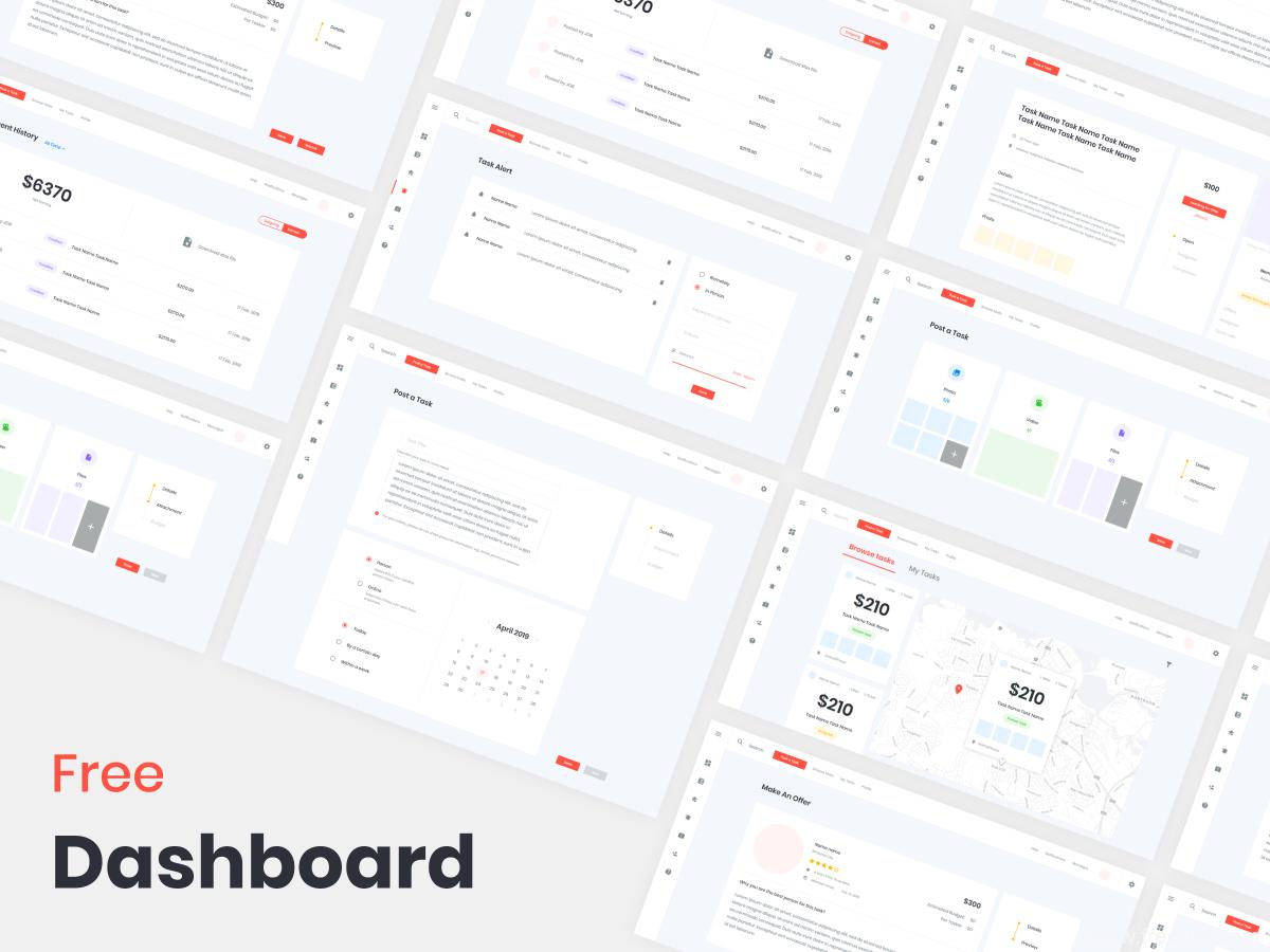 成套精品后台模板dashboard .xd素材下载,UI源文件模板下载
