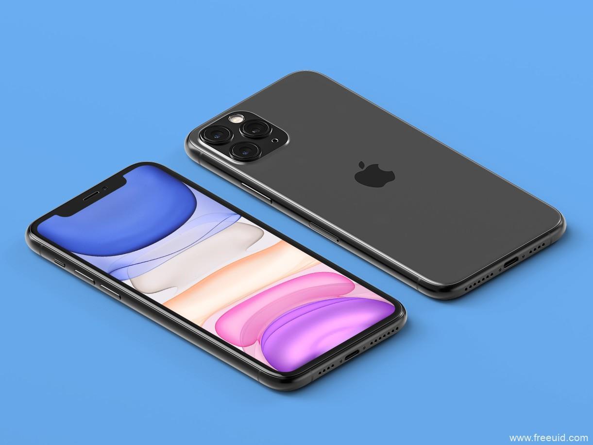 透视版iphone 11 pro mockup .psd素材下载