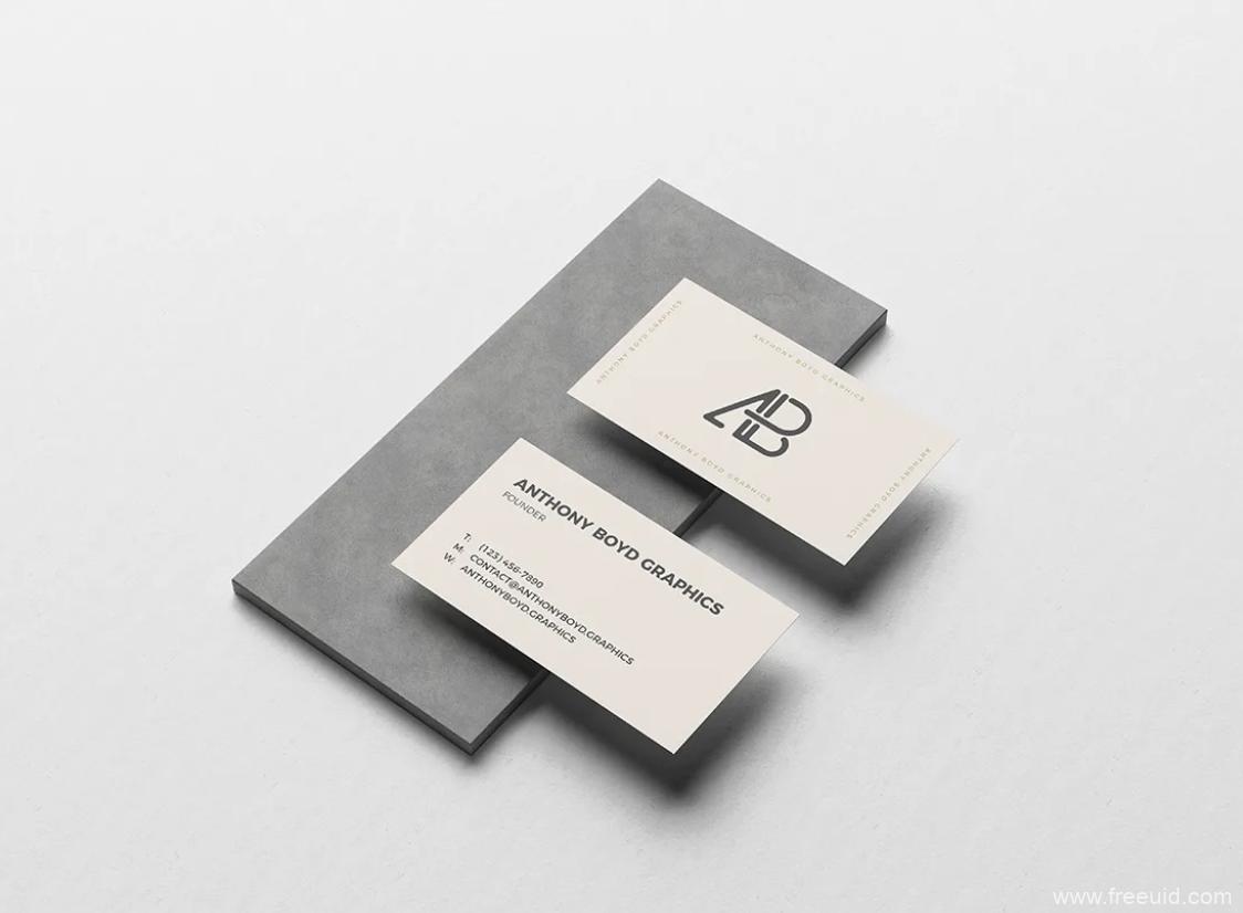 精品!名片展示样机模板,PSD源文件
