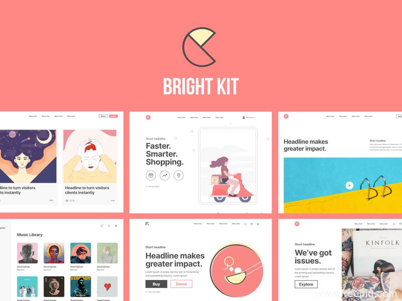 20个高端网页设计模板sketch源文件,个人博客网页,作品集网站,品牌企业官网UI源文件