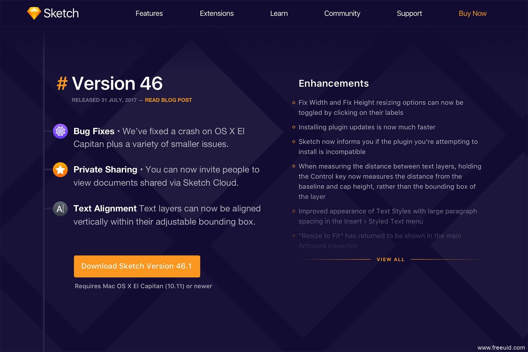 sketch网站页面源文件免费下载