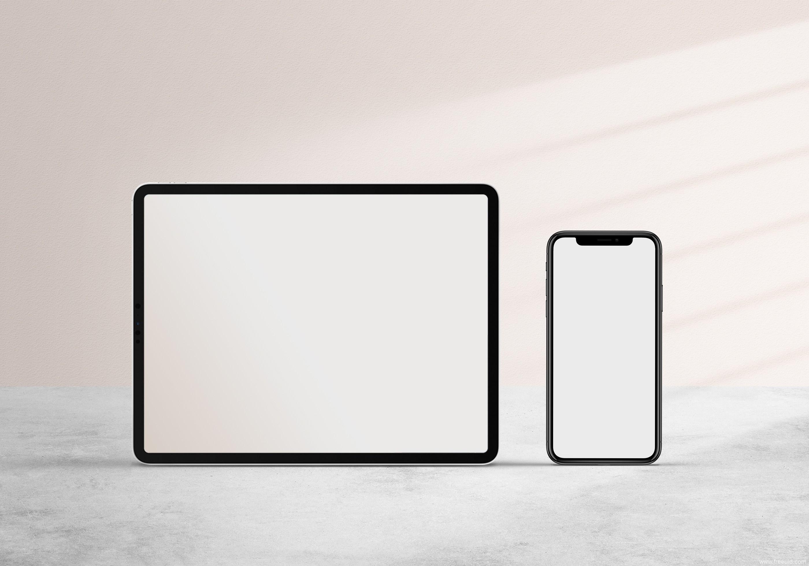iPad pro样机,iPhone 11样机,iPad pro mockup,iPhone 11 mockup psd源文件