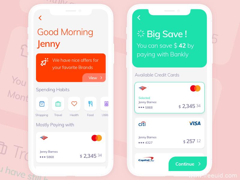 银行应用程序app界面、银行收费界面sketch源文件下载