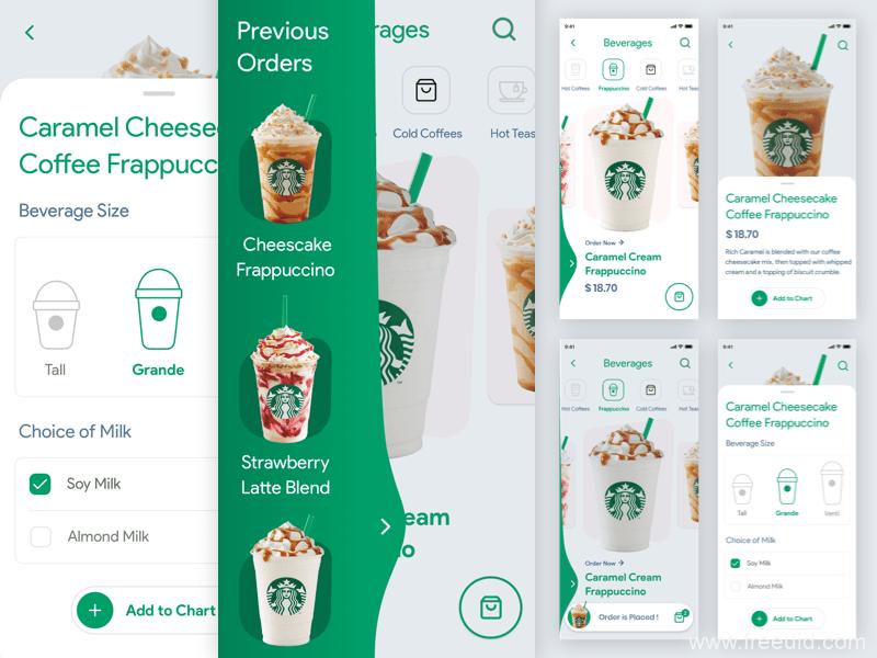 咖啡订单应用程序sketch源文件下载