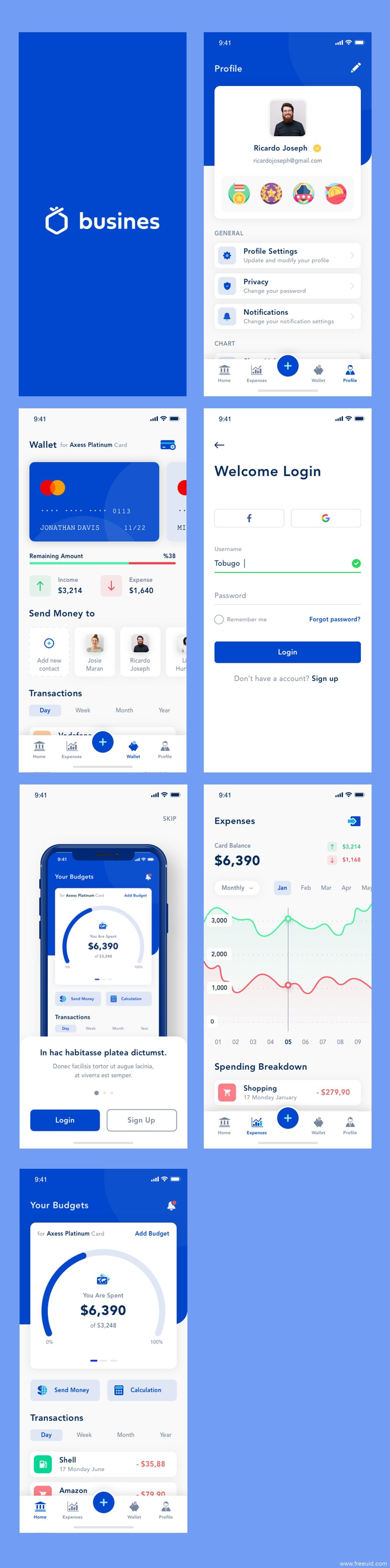 金融应用程序app界面、商业银行应用程序UI界面sketch源文件下载