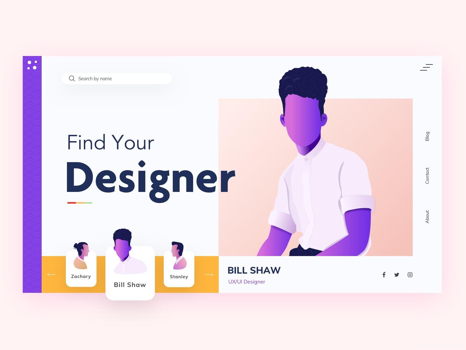 插画风UI界面sketch源文件免费下载