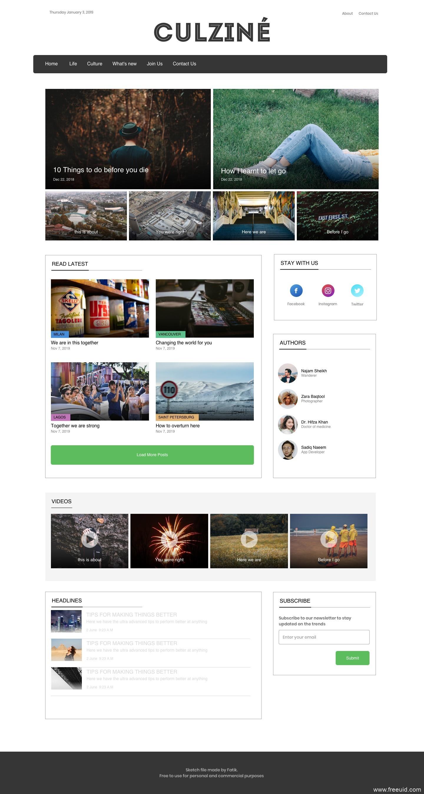 图片社交网站UI界面sketch源文件下载