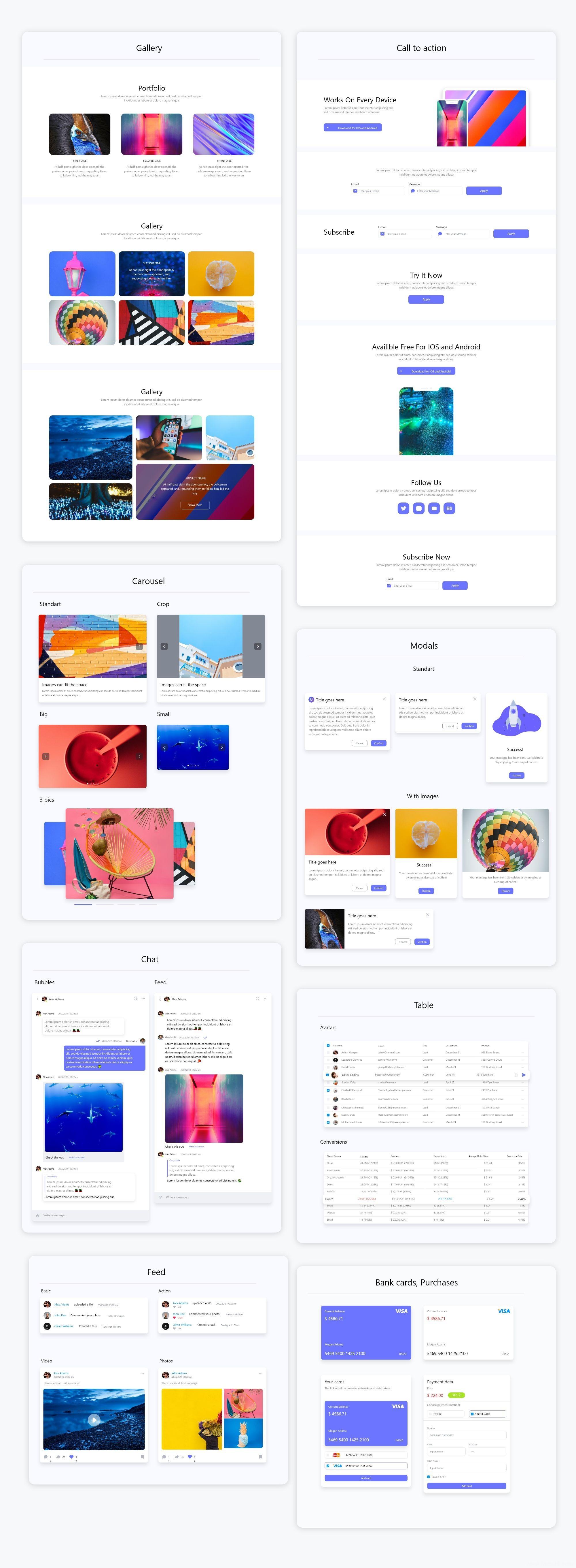 高级大型网站kit模板,个人站、作品展示站、商务站、着陆页等全套网站UI源文件下载