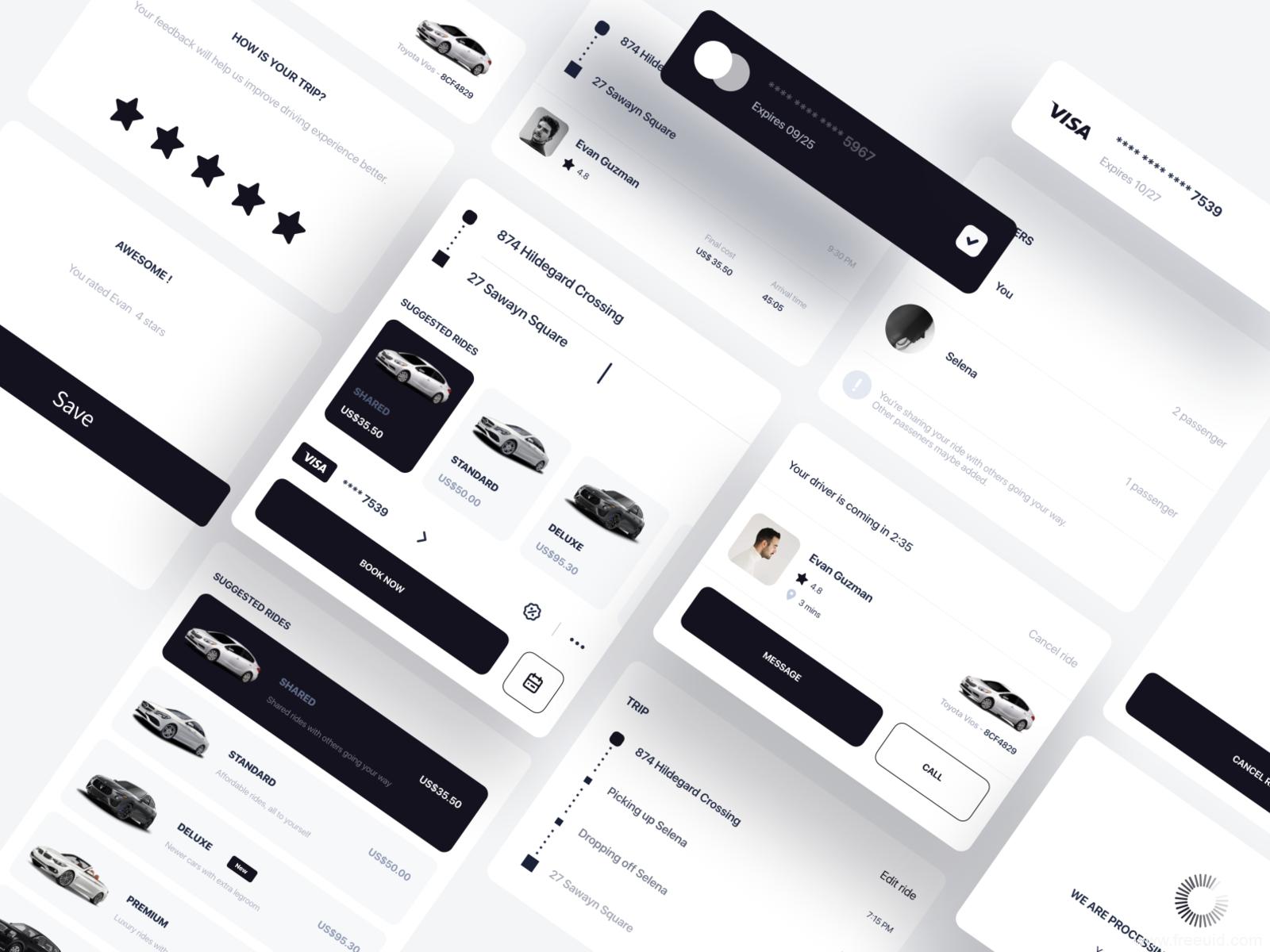 高端汽车类应用UI源文件,汽车App UI资源下载,汽车UI kit组件sketch源文件