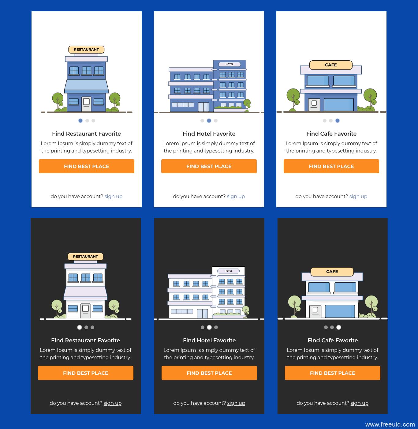 民宿、租房应用程序商务插画风引导页sketch源文件下载