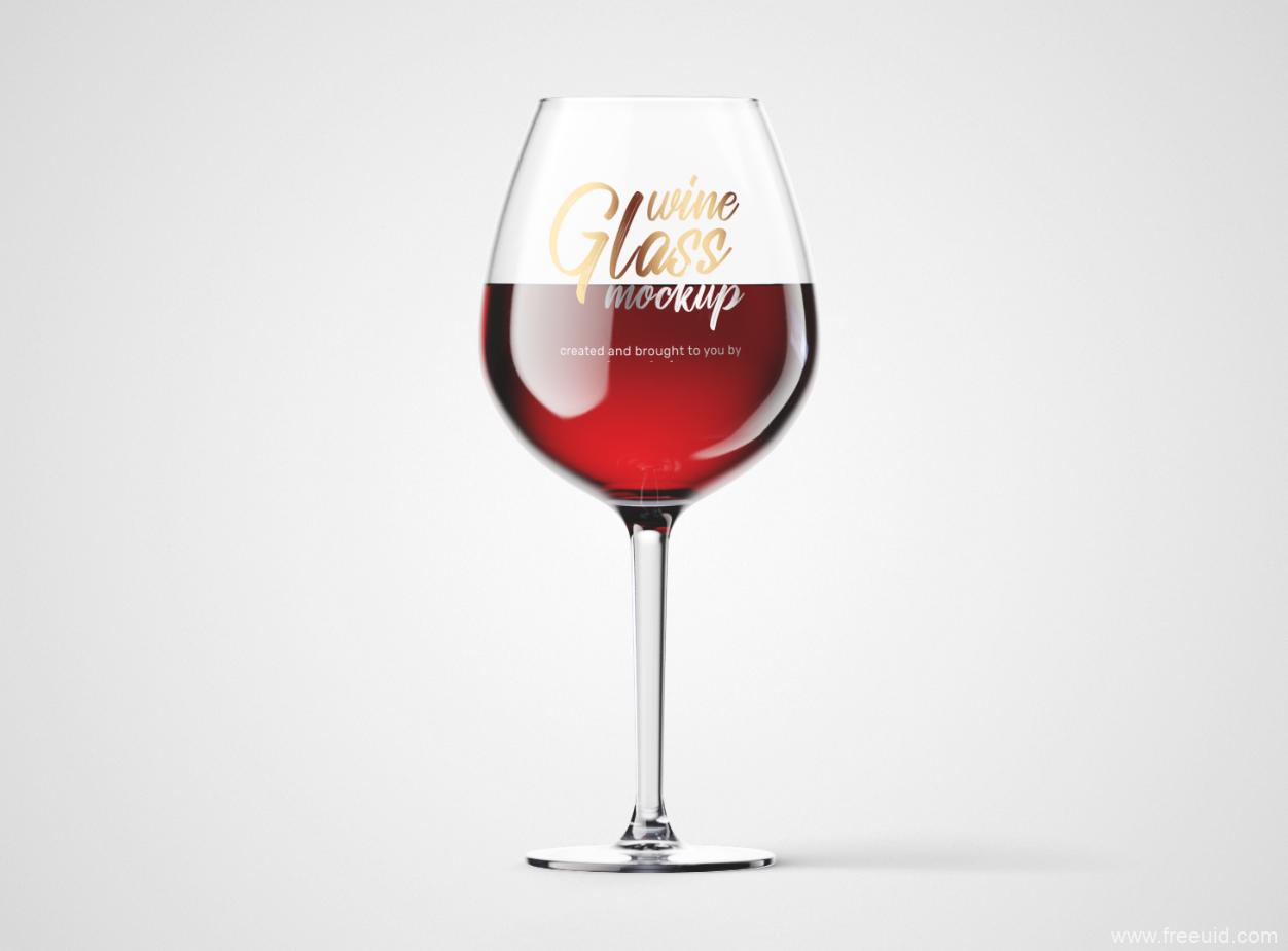 酒杯logo展示样机psd免费下载
