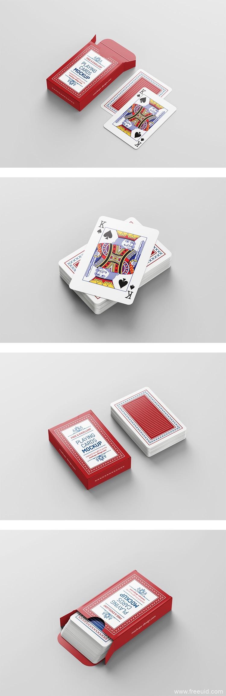 扑克牌展示样机psd源文件免费下载