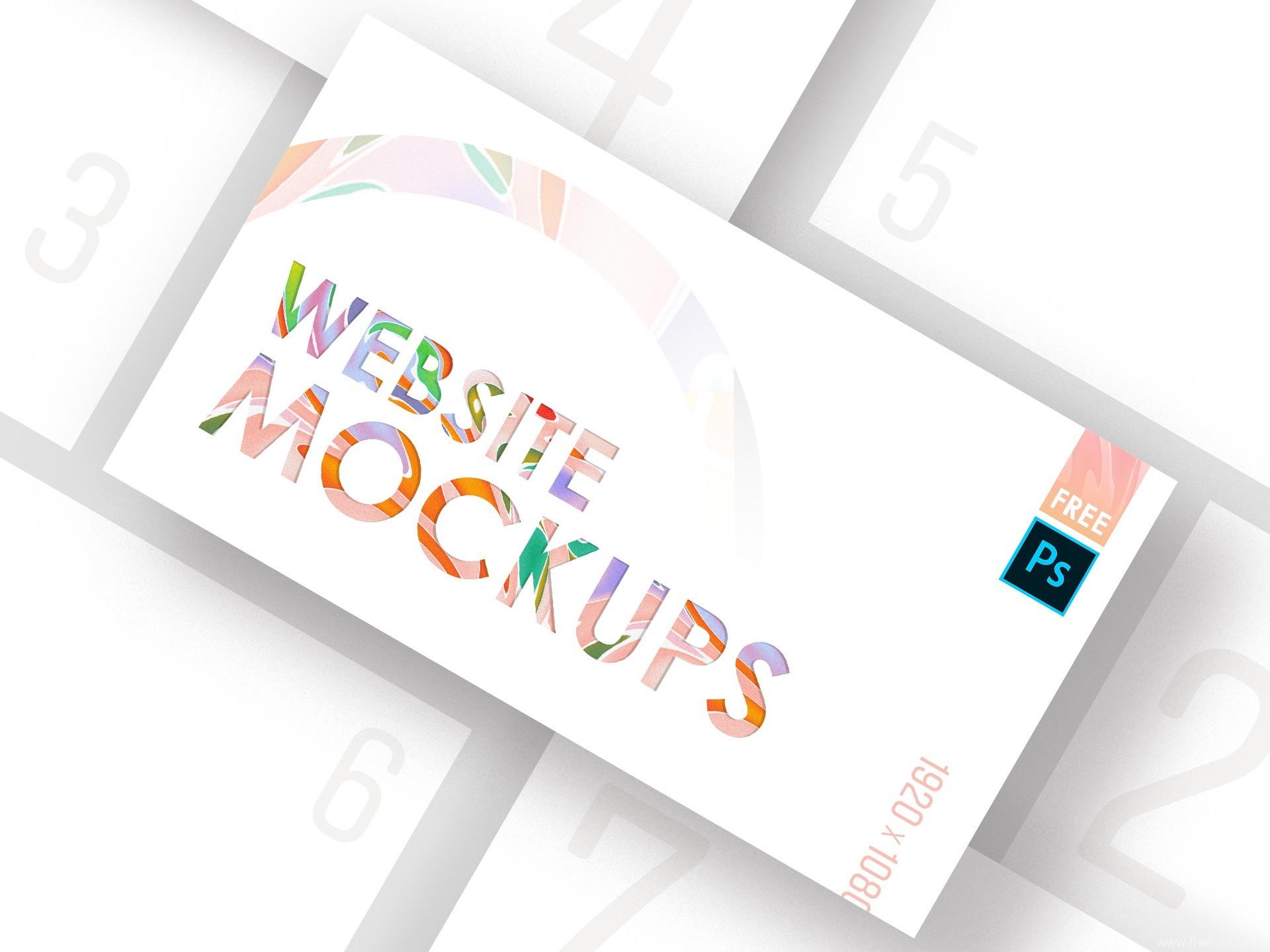 Website Mockups 样机展示模板psd源文件下载