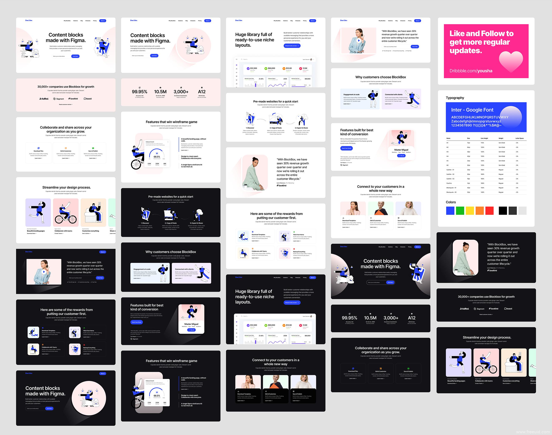 30个精品高端网页UI模板,作品集排版UI素材,个人网站,作品集网站企业网站UI源文件figma源文件