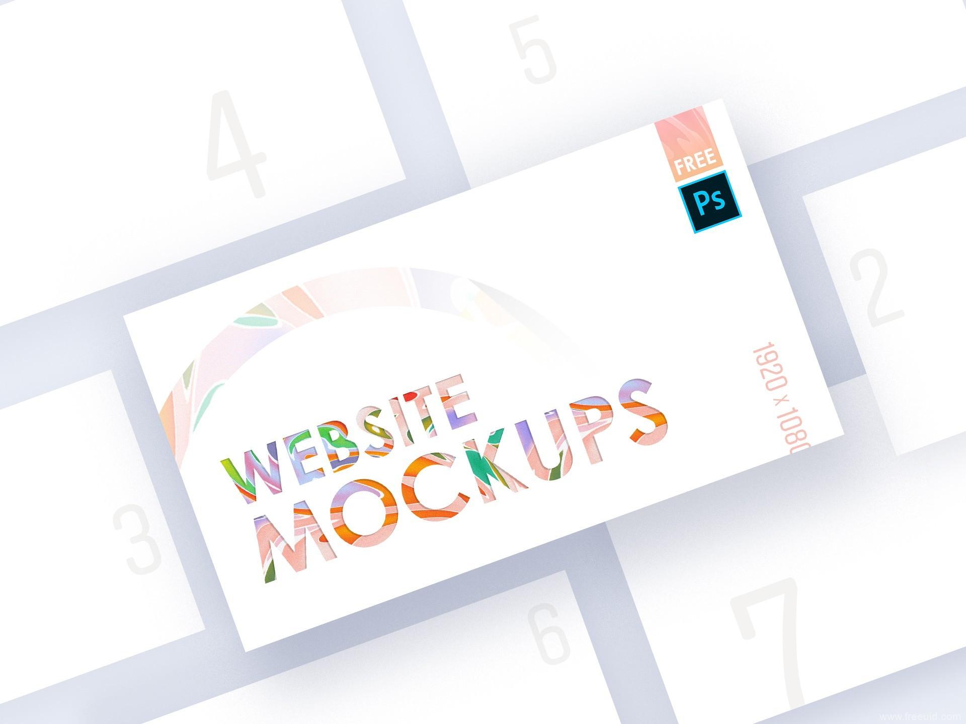 Website Mockups样机展示模板psd源文件下载